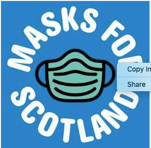masks for scotland fundraiser