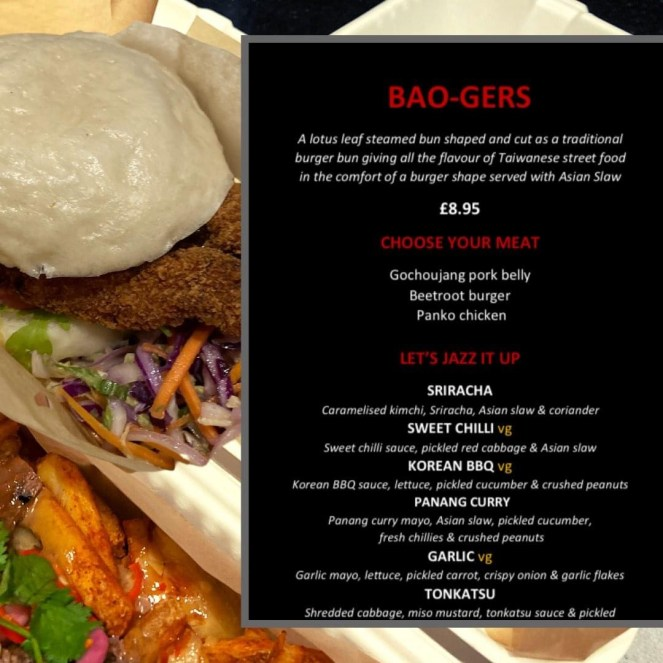 Bao craft menu Glasgow