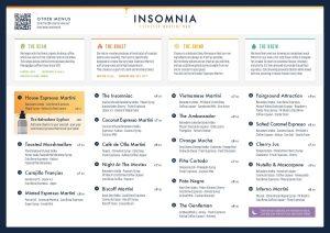 Insomnia espresso martini bar menu Glasgow