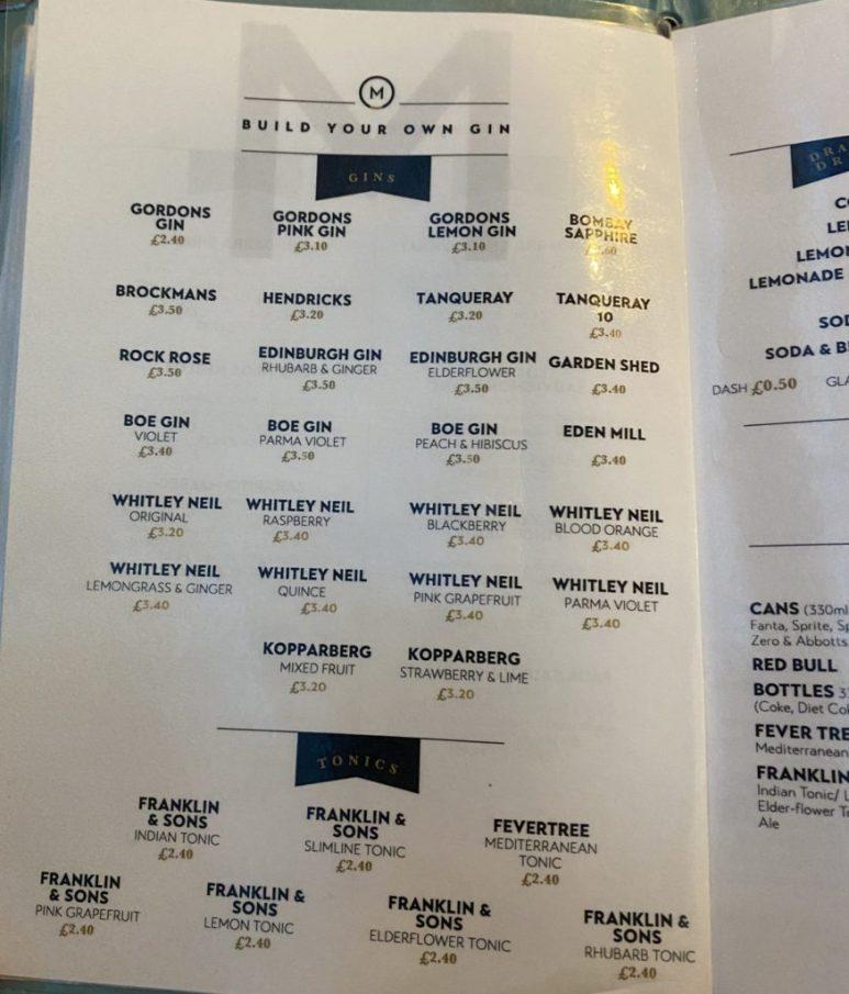 maggies bar and kitchen kilmarnock drinks menu