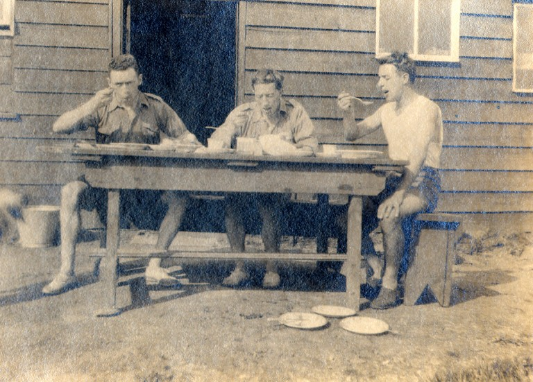 CHAPTER 4 photo 1 'Enjoying lunch at Rucksack Club Hut , Kinlochard , late 20's'