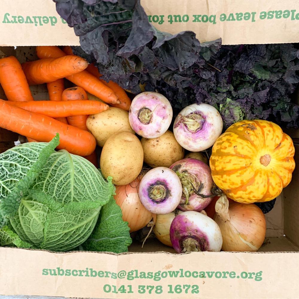 Not this week's veg box, but a veg box