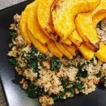 Roast Butternut Squash Quinoa Salad with Sage and Walnuts
