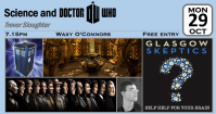 Science and Dr Who event poster