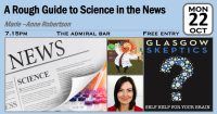 Science in the news event poster