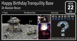Happy Birthday Tranquility Base event poster