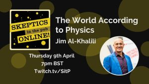 The World According to Physics event poster
