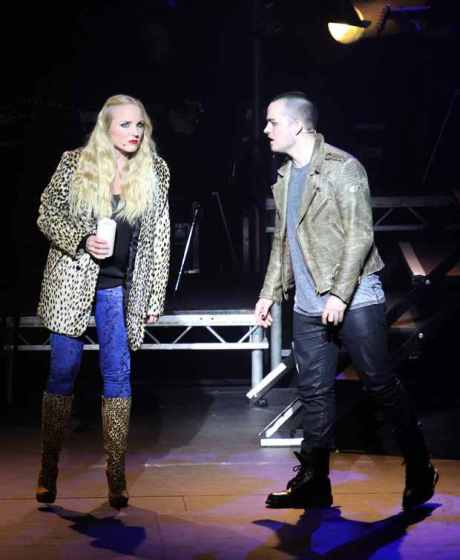 Kerry Ellis and Rory Taylor performing in Rent 20th Anniversary