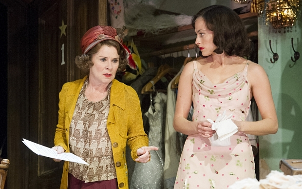 Gypsy at The Savoy Theatre Imelda Staunton as Rose, Lara Pulver as Louise ©Alastair Muir 15.04.15
