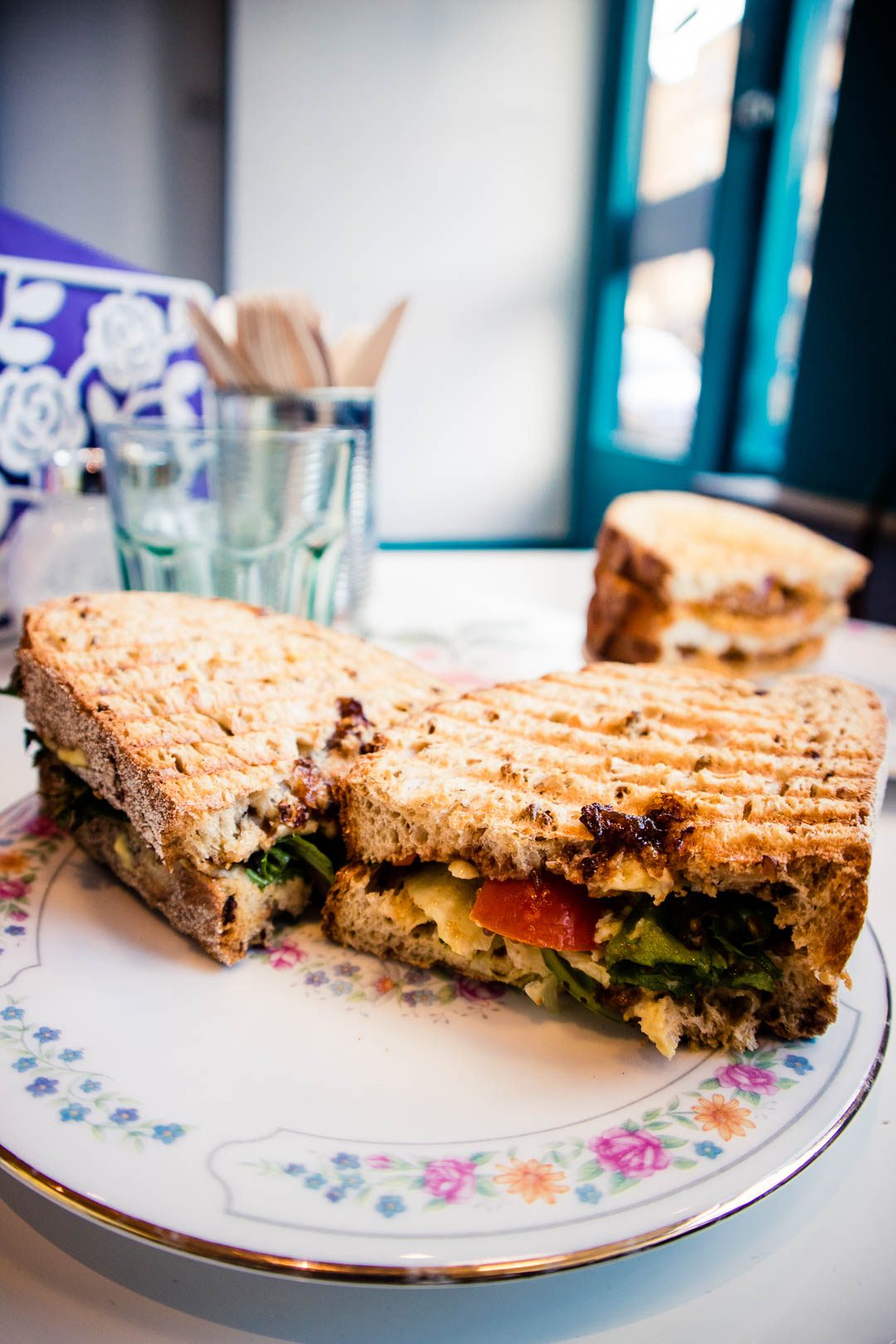 Polly's Ploughman sandwich at In Bloom Glasgow - all sandwiches are names after Nirvana songs!