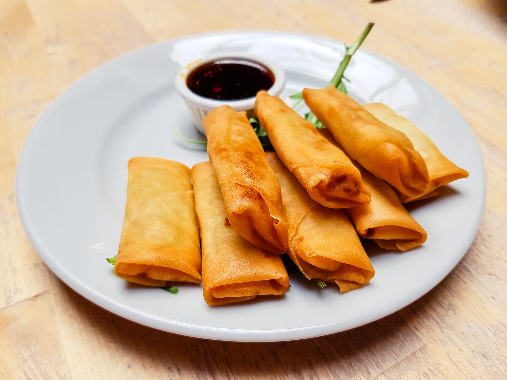 Spring rolls at Saramago Cafe Bar at the CCA in Glasgow.