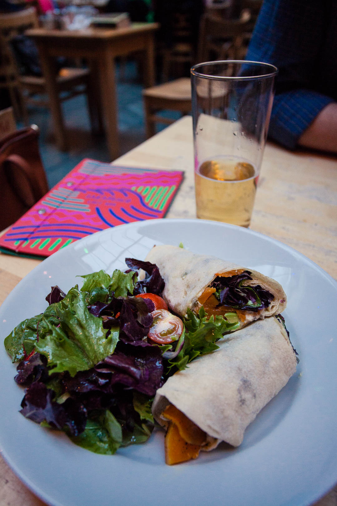 Wrap at Saramago Cafe Bar at the CCA in Glasgow.