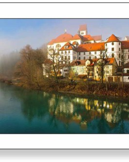 Kloster Sankt Mang und Lech im Nebel 1 F4