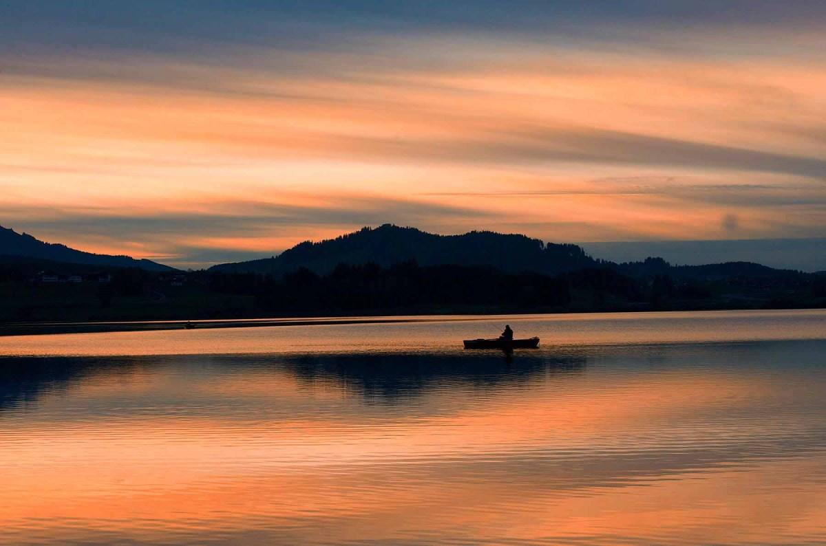 Sonnenuntergang Hopfen am See 3
