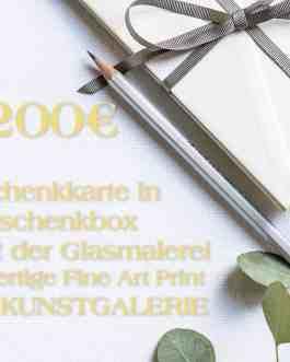 200 Euro Gold Geschenkkarte in Geschenkbox