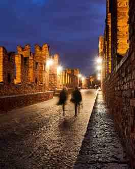 Verona bei Nacht 3C, Ponte Scaligero