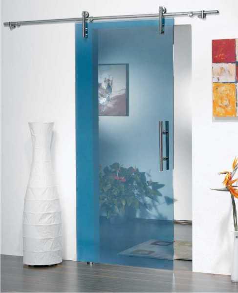 47 x 96 inches xxl sliding glass barn door tinted glass artik blue open box