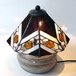 「陶器のランプベースを使った8面ランプ」