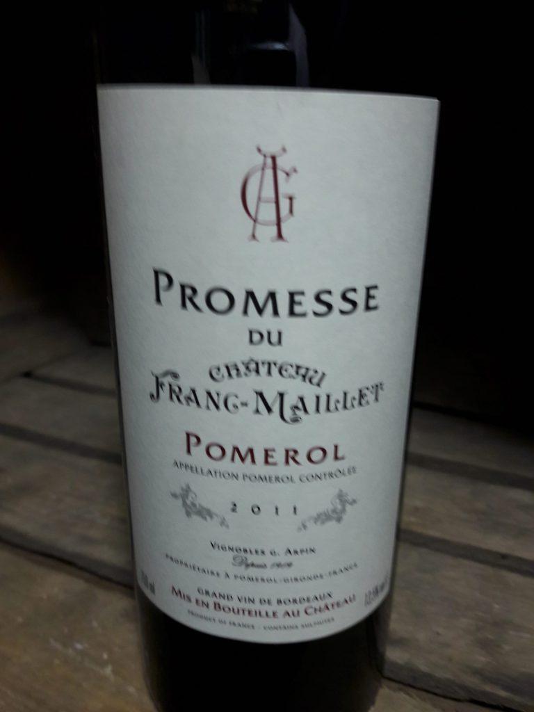 Pomerol - Promesse du Château Franck-Maillet - 2011