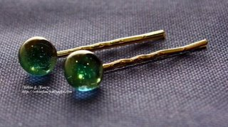 fused glass bobby pins
