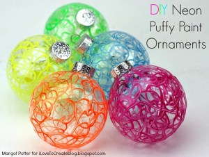 DIY Puffy Paint Ornaments Three iltc
