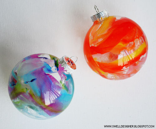 Crayon Melt Glass Ornaments DIY from Instructables