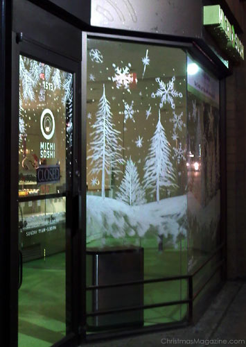 6 Holiday Painted Window Art Glass Art