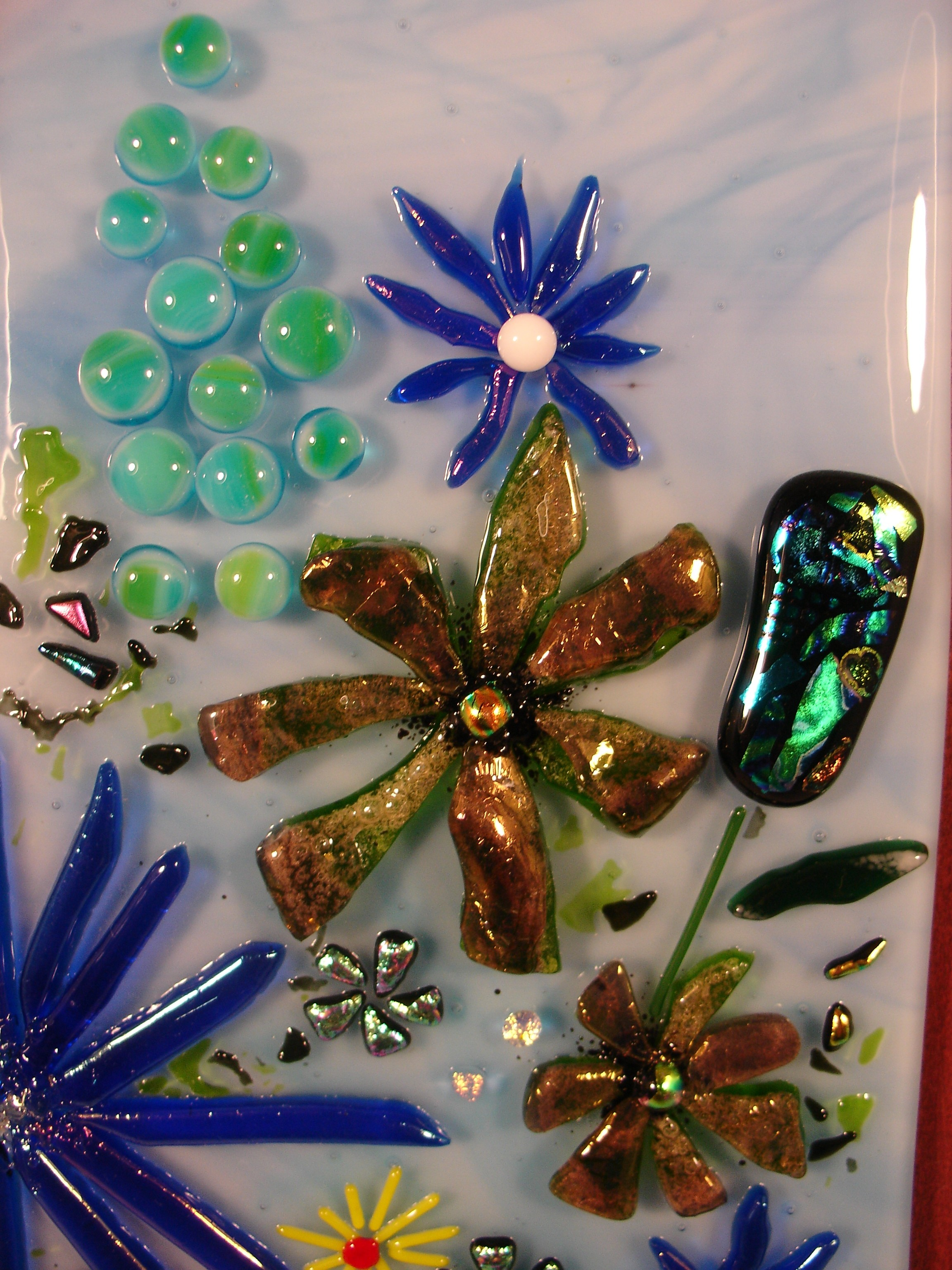 Wall Art – Fused Glass #WL97 Flower Garden