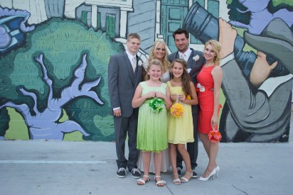 The Baumhowers (Shannon picked every dress and every color)