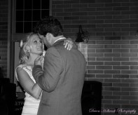 Our First Dance. Ed Sheeran's Thinking Out Loud filled the Train Barn