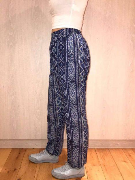 Aztec Straight Leg Cotton Trouser
