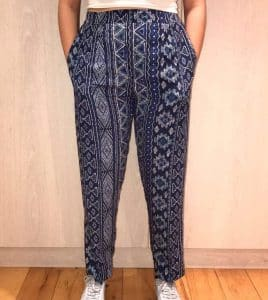 Aztec Straight Leg Cotton Trousers