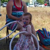 the littlest ring dancer at the festival!