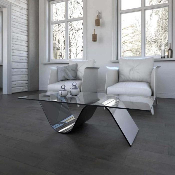 wave glass coffee table