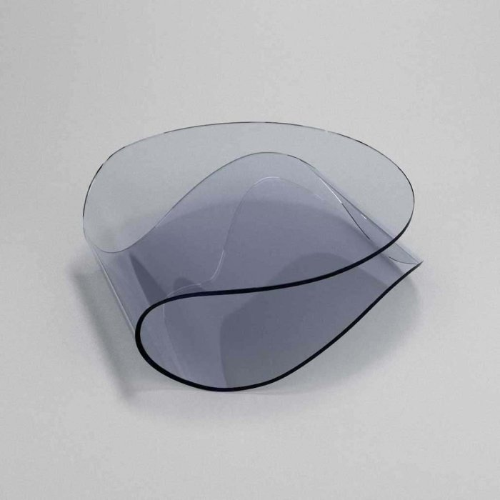clee curved glass table