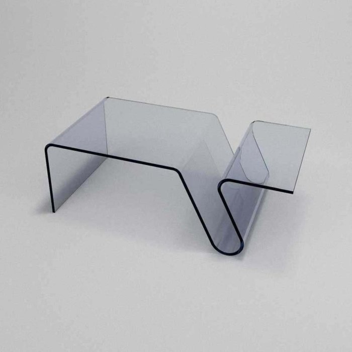 Glass Coffee Table - curved