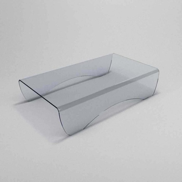 curved glass coffee table Pelle