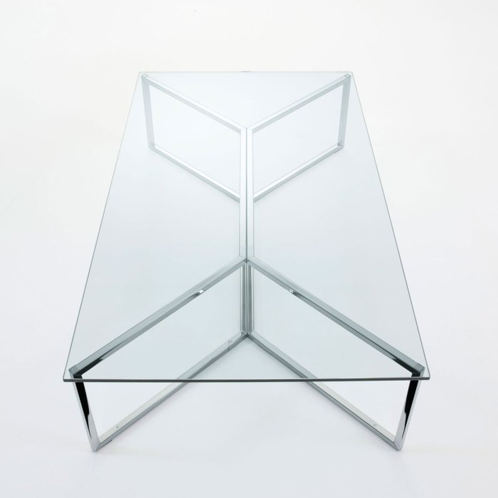 Carlomagno Glass and Metal Table by Gallotti & Radice