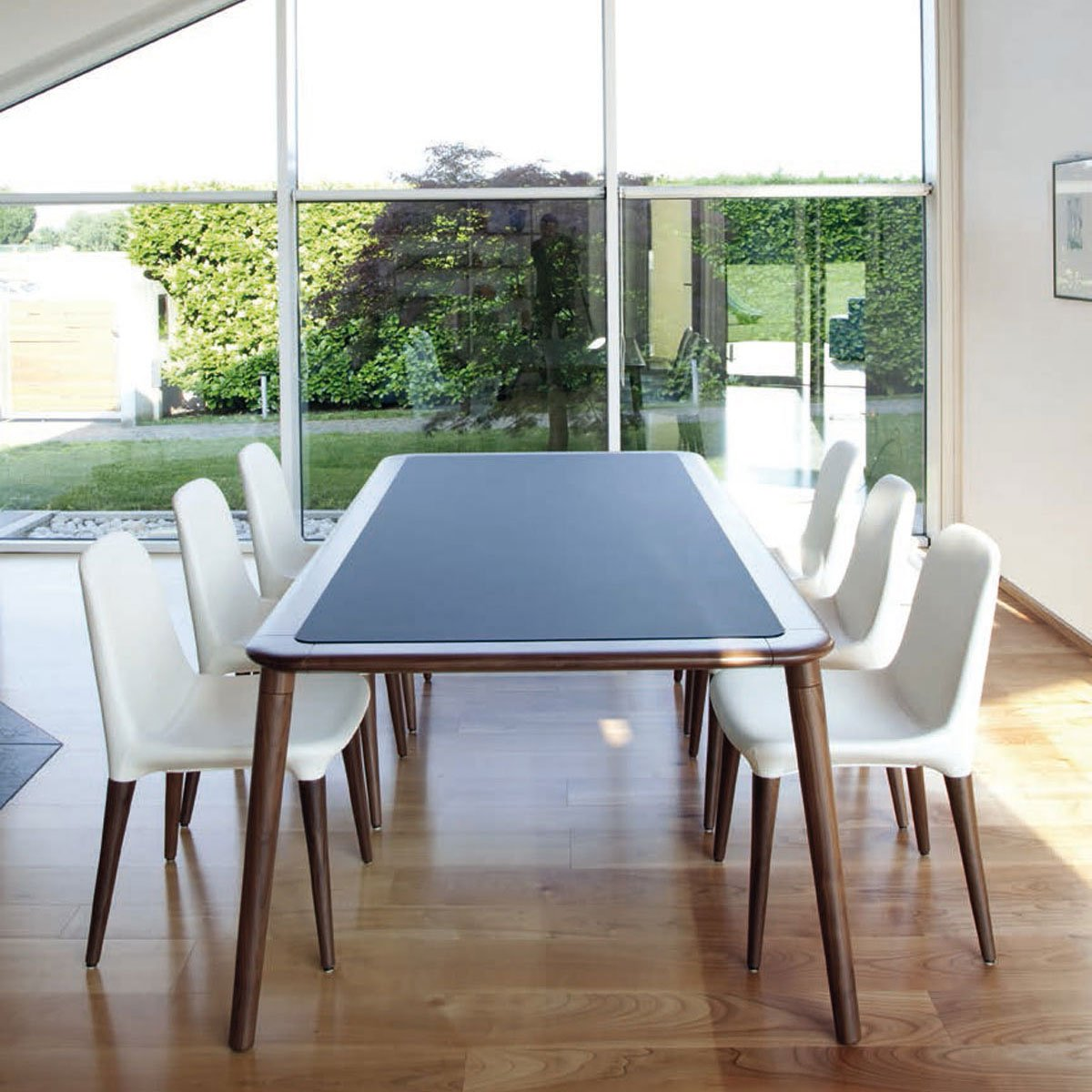 Jonathan - wooden dining table with Glass top - Klarity - Glass ...