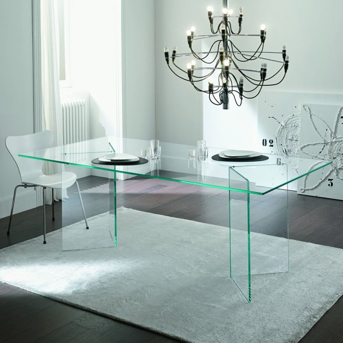 Tonelli Bacco Glass Dining Table