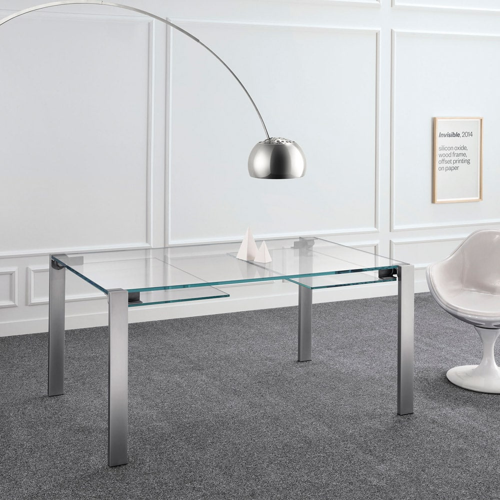 Livingstone Glass Dining Table By Tonelli Klarity Glass