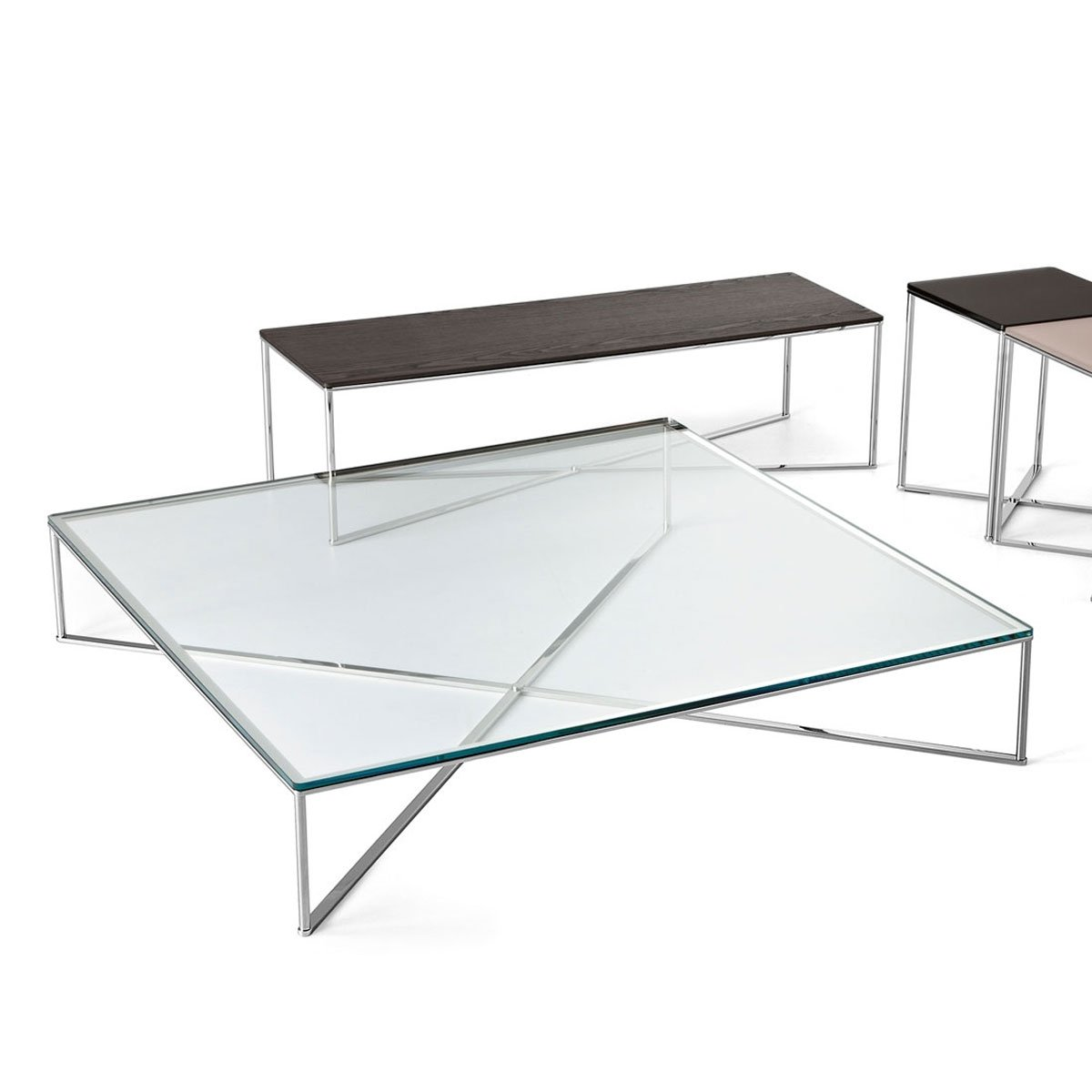 glass and metal coffee tables glass