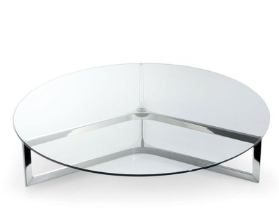 Raj Circular Glass and Metal Coffee Table by Gallotti & Radice