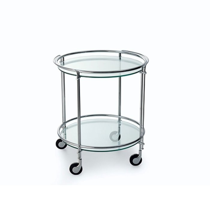 Riki Glass and Metal Trolley by Gallotti & Radice