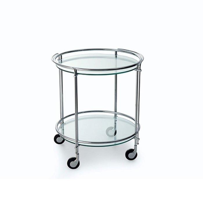 Riki Glass and Metal Trolley by Gallotti & Radice
