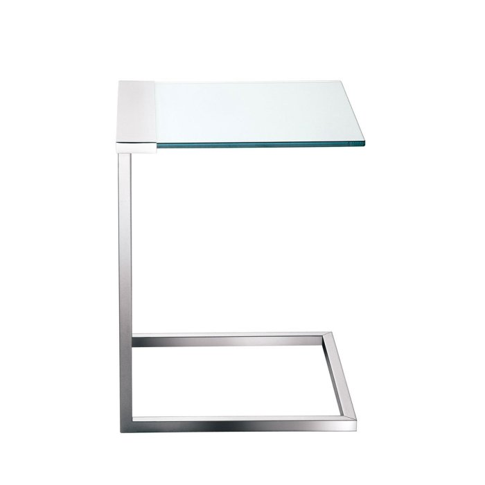 SirT32C Glass and Metal side table by Gallotti & Radice