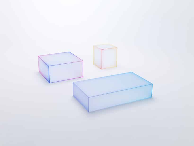 Soft Glass furniture at Milan