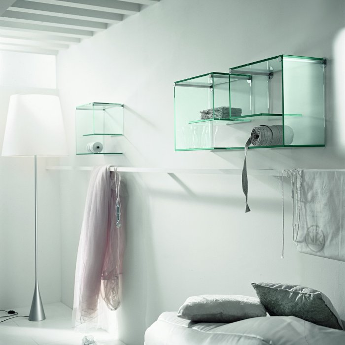 alfa beta glass storage shelf by tonelli