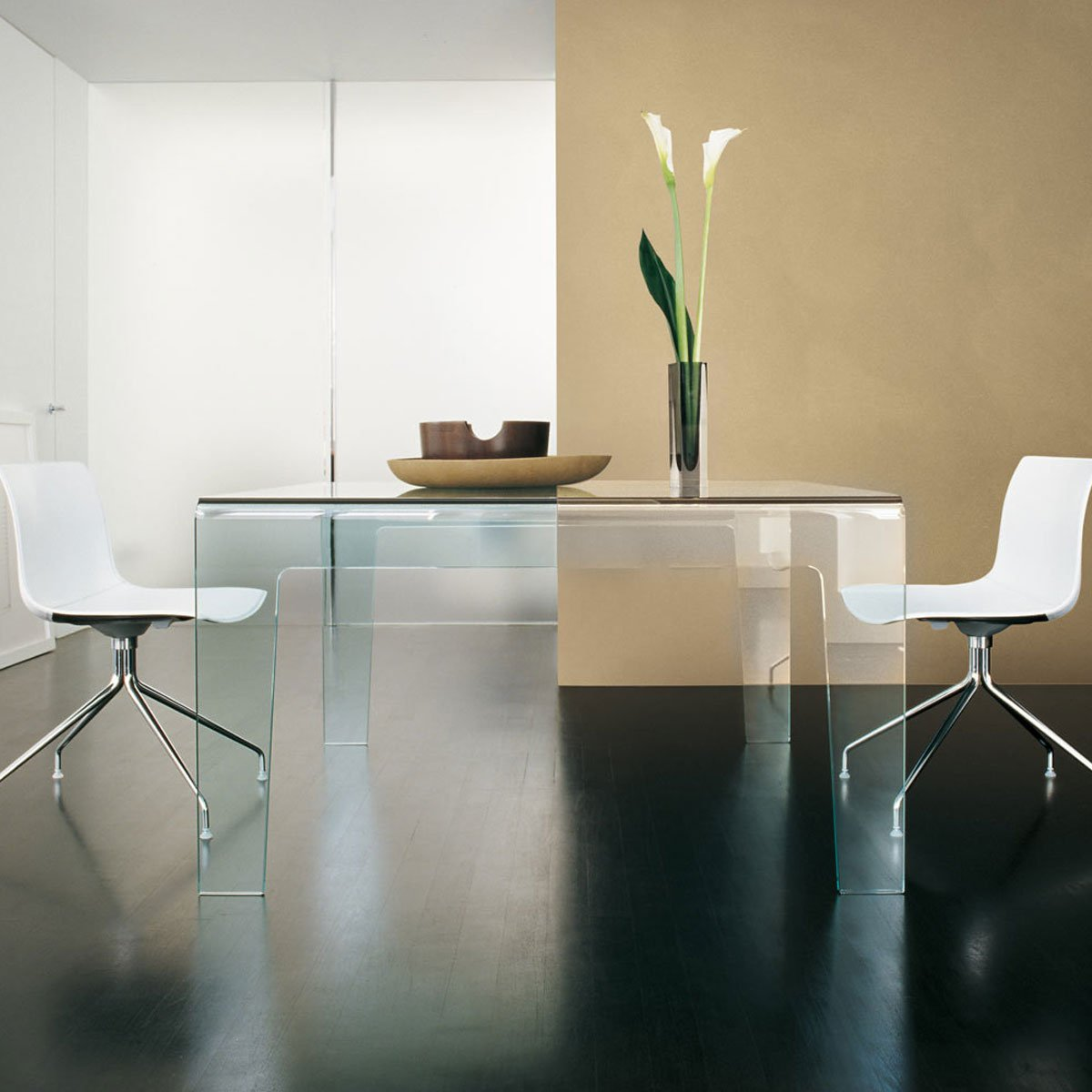 all glass dining table