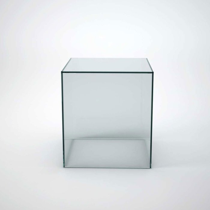 glass side table - cubic